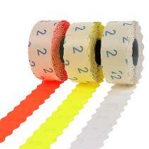 Etichette 26x12mm diversi colori 3 rotoli