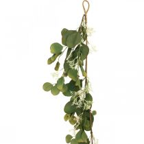 Ghirlanda artificiale di eucalipto con cardi decorazione autunnale 150cm