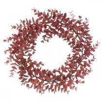 Ghirlanda decorativa eucalipto rosso Ghirlanda di eucalipto artificiale Ø32cm
