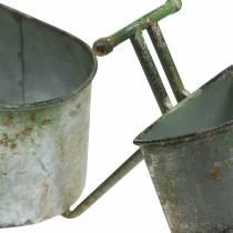 Bicicletta vaso di fiori grigio zinco, verde 40 × 14 × 21 cm
