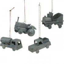 Veicoli in metallo da appendere Assortiti 9-10cm 4pz