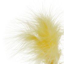 Piuma su bastoncino Giallo L30 cm 12 pezzi