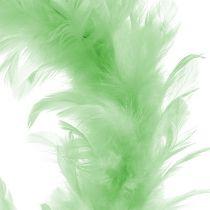 Ghirlanda di piume Verde chiaro Ø15cm 4pezzi