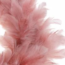 Ghirlanda di piume decorative grande decorazione pasquale rosa scuro Ø40cm
