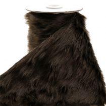 Nastro decorativo in pelliccia marrone scuro 16x200cm