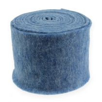 Nastro in feltro blu 15 cm 5 m
