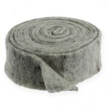 Nastro in feltro grigio 7,5cm 5m
