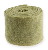 Nastro in feltro 15 cm x 5 m verde muschio