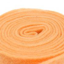 Nastro in feltro arancione chiaro 15 cm 5 m