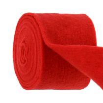 Nastro in feltro 15 cm x 5 m rosso