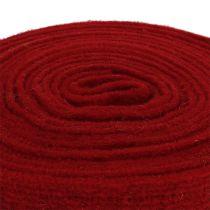 Nastro in feltro rosso scuro 7,5 cm 5 m