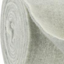 Nastro in feltro 15 cm x 5 m bicolore grigio, bianco