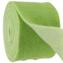 Nastro in feltro 15 cm x 5 m bicolore verde, bianco