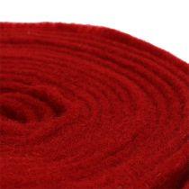 Nastro in feltro 15 cm x 5 m rosso scuro