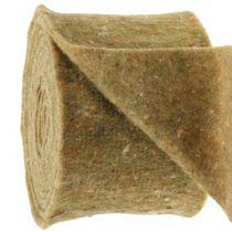 Nastro in feltro verde con punti 15cm x 5m
