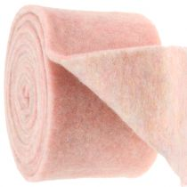 Nastro in feltro, fascia in terracotta bicolore bianco / rosa 15 cm 5 m