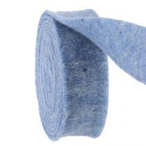 Nastro in feltro blu 7,5 cm 5 m