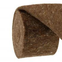 Nastro in feltro, nastro piatto marrone 15 cm 5 m