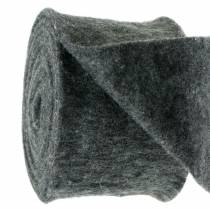 Nastro in feltro grigio scuro 15 cm 5 m