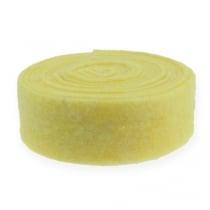 Nastro in feltro giallo chiaro 7,5 cm 5 m