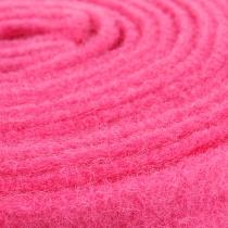 Nastro in feltro rosa 7,5 cm 5 m