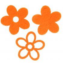 Fiore in feltro 4 cm arancio 72 pezzi