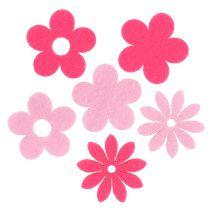 Fiore di feltro rosa, rosa 3,5 cm 96 pezzi