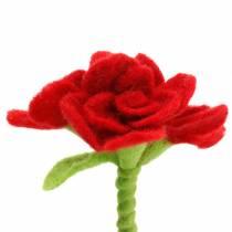 Fiore in feltro 15 cm con 3 fiori