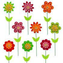Fiore in feltro come plug colorato. 7cm L25cm 18pcs
