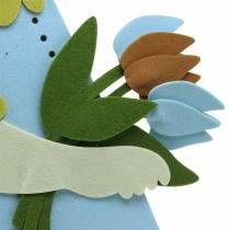 Grande coniglietto pasquale in feltro color crema, azzurro, 44 cm H101cm decorazione finestra