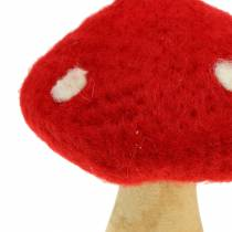 Fly Agaric Autumn Deco Red H13,5cm 2 pezzi