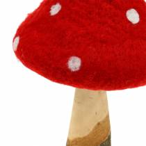Toadstool Fall Decoration Rosso H27cm