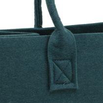 Borsa in feltro blu grigio 40 cm x 20 cm x 25 cm