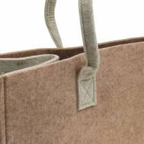 Borsa in feltro marrone chiaro 50 × 25 × 25 cm