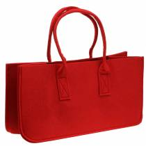 Borsa in feltro rossa 50 × 25 × 25 cm