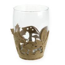 Vaso in feltro per fioriera in feltro autunnale in feltro beige 2 pezzi