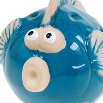 Pesce in ceramica, marittimo, pesce decorativo blu L11,5 4pz