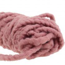 Velcro Mirabell in feltro rosa antico 25m