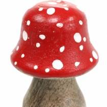 Funghi decorativi in legno Ø4,6–5 cm H6,8–7,2 cm 4 pezzi