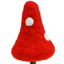 Tappo per fungo realizzato in feltro rosso 30 cm 4 pezzi