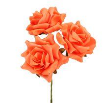 Schiuma rosa Ø 10 cm arancione 8 pezzi