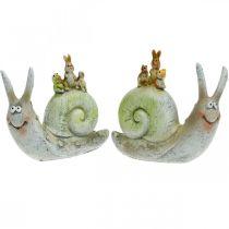 Simpatica lumaca decorativa con compagni, primavera, decorazione della tavola, lumaca domestica 2 pezzi