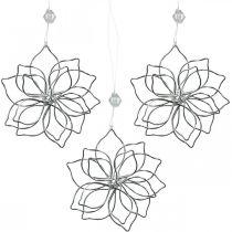 Decorazione primaverile, fiore in filo metallico, fiore in metallo, decorazione per matrimonio, ciondolo decorativo estivo 6 pezzi