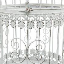 Decorazione primaverile, gabbia per uccelli da appendere, decorazione in metallo, vintage, decorazione per matrimonio 28,5 cm