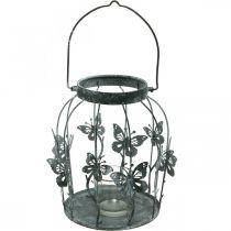 Decorazione primaverile, lanterna con farfalle, lanterna in metallo, estate, decoro candela