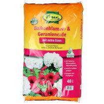 FRUX terriccio per fiori e gerani da balcone 40l