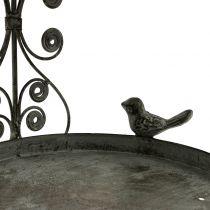 Mangiatoia per uccelli da appendere in stile vintage H35cm
