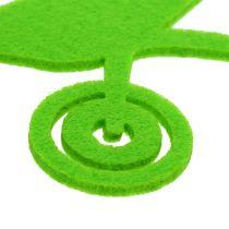 Attrezzi da giardino in feltro verde 24 pezzi