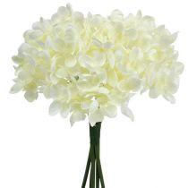 Mazzo di ortensie fiori artificiali bianco L27cm