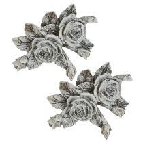 Rosa per decorazioni gravi Poliresina 10 cm x 8 cm 6 pezzi